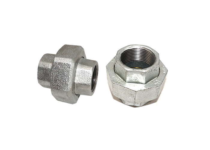 High Accuracy Female Cast Iron Union , 1 4 Pipe Unions Couplings Anti Abrasive