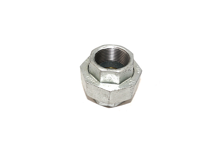 1 Inch Pipe Union Conical Fittings , Din Standard Gi Pipe Coupling Smooth Surface