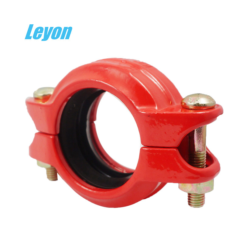 Grooved Rigid/Flexible Coupling Fire Fighting Grooved Fittings DN50 - DN200 Ductile Iron Pipe Fittings