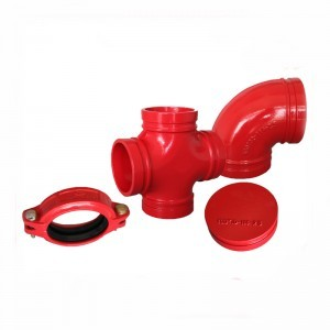Anti Corrosion Fire Fighting Grooved Double Claw Clamp