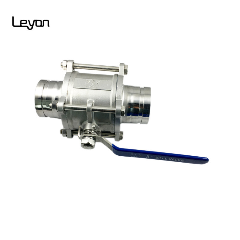 Butt Weld DN100 Hydraulic Grooved Ends SS304 Ball Valve
