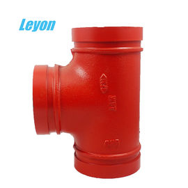 중국 PN10 / PN25 연성 철 파이프 피팅 Grooved Tee for Fire Fighting System 공장